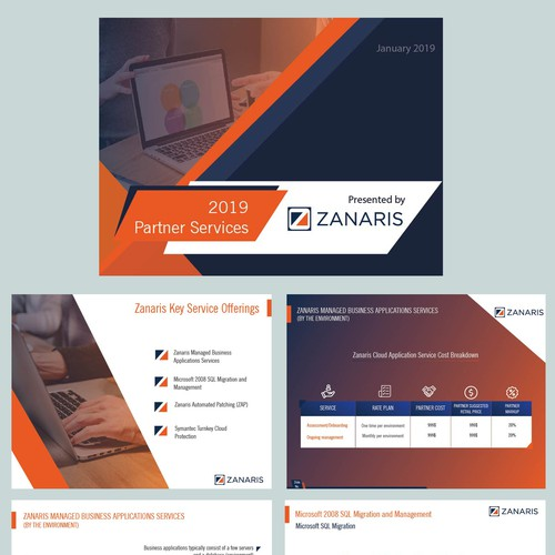 Powerpoint template for software solution company