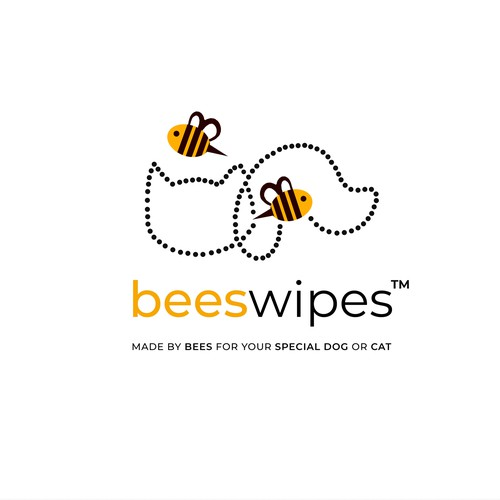 Logo for pet wipes with honey essence