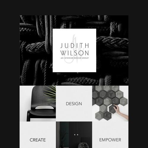 Design bureau website concept