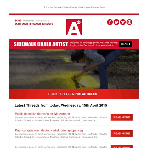 Email design campaign for News & Media