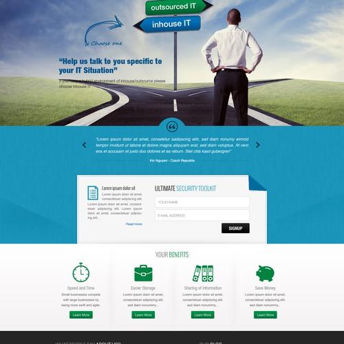 Progressive, modern, clean design-website for technical company.