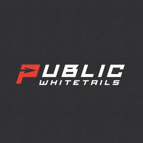 """Unique and Simple Logo for """"Public Whitetails"""""""