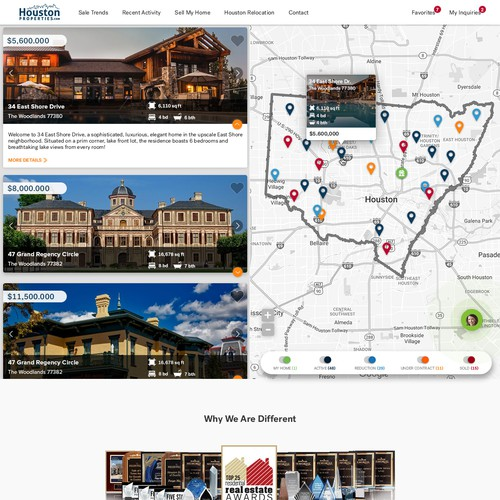Page redesign for Houston Properties
