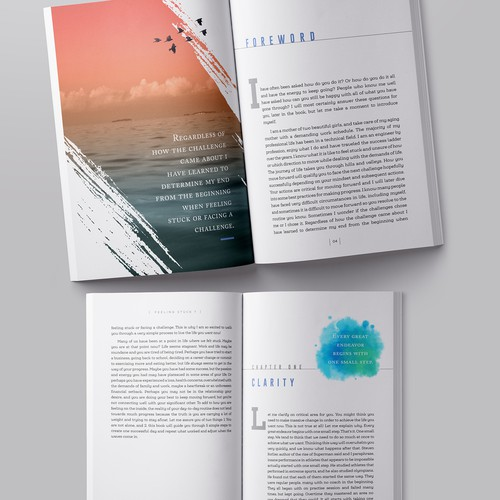Book cover & interior layout