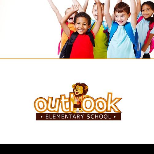 Outlook Elementary School's lion logo