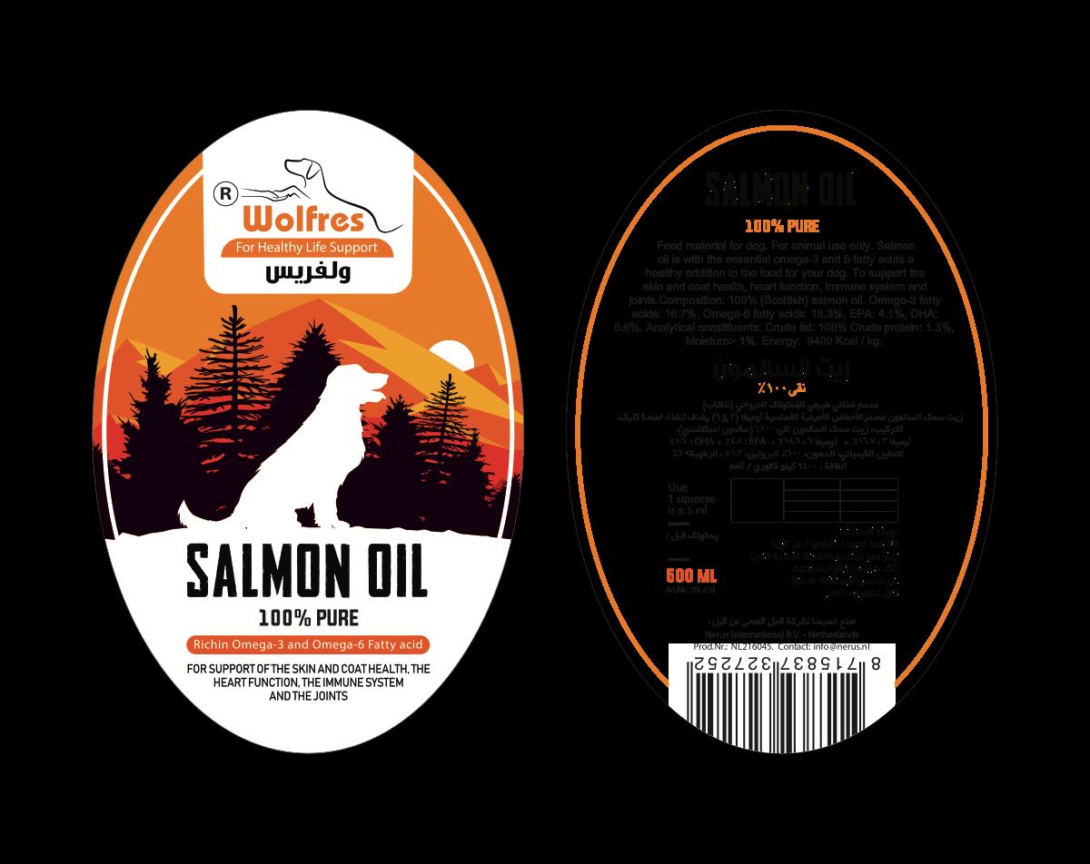 salmon oil label