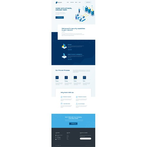 Homepage design concept for a hacker team