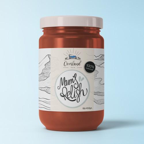 Mum's Relish Label Design