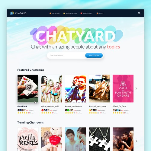 Webpage design for CHATYARD