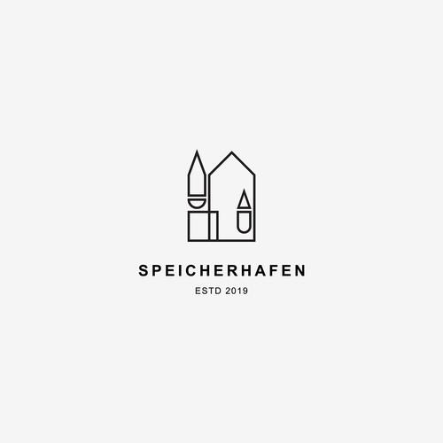Simple and minimal logo for Speicherhafen
