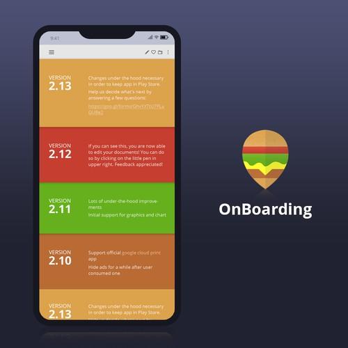 App versions page