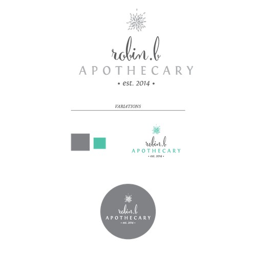 "Create a ""fashion forward - classic"" design for robin b. apothecary"