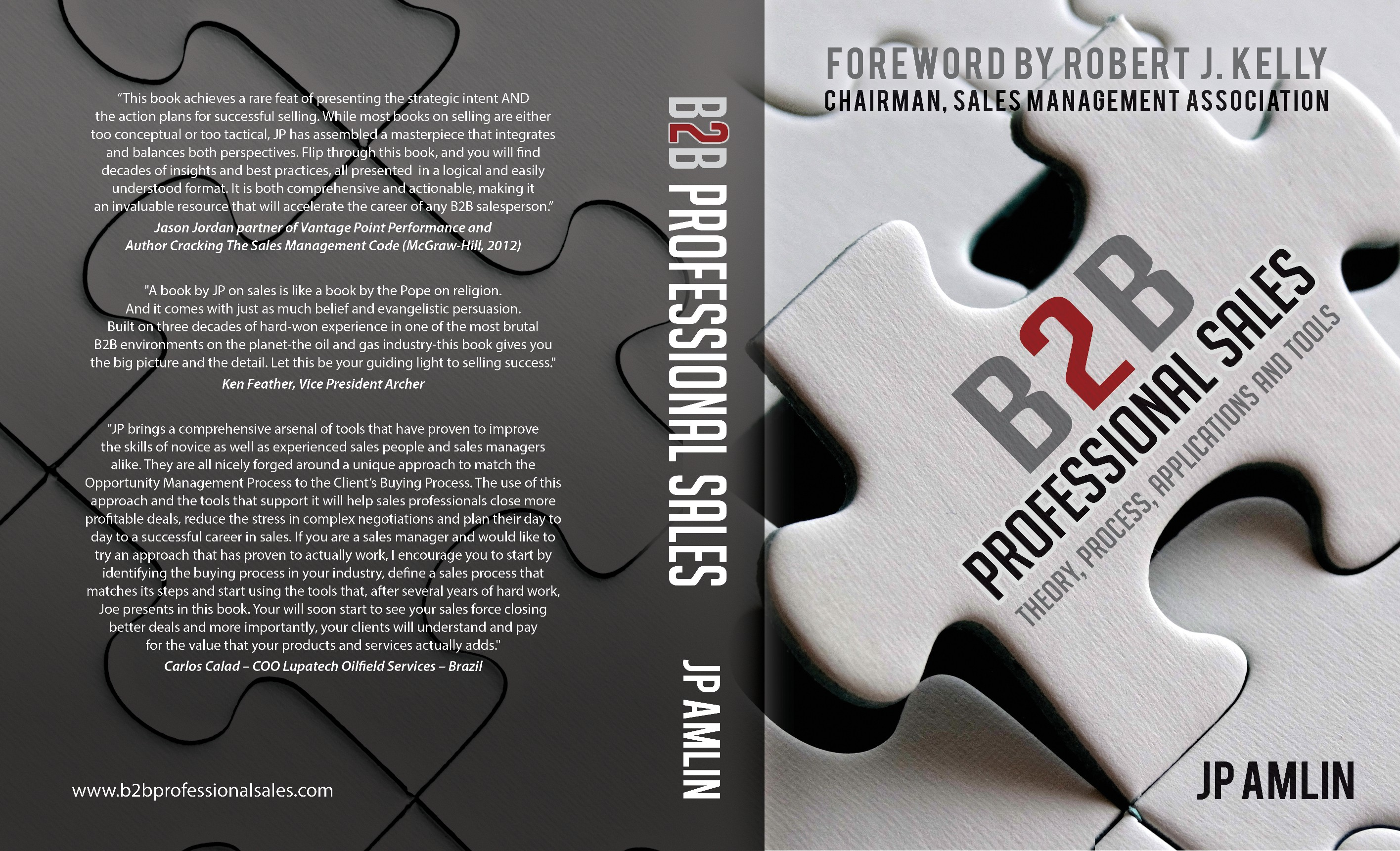 Create a B2B Professional Sales Textbook Cover.