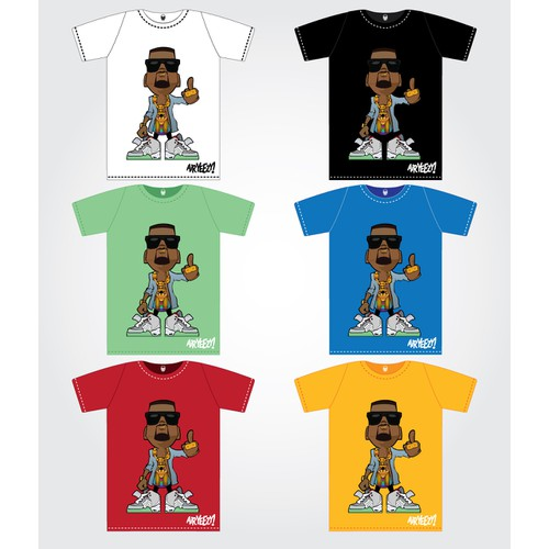 Create the next t-shirt design for nike air yeezy 2