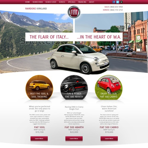 Website for Fiat dealar