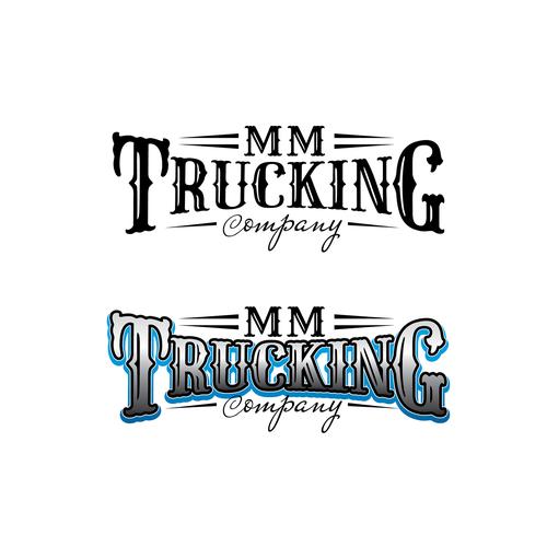 Western style lettering logo