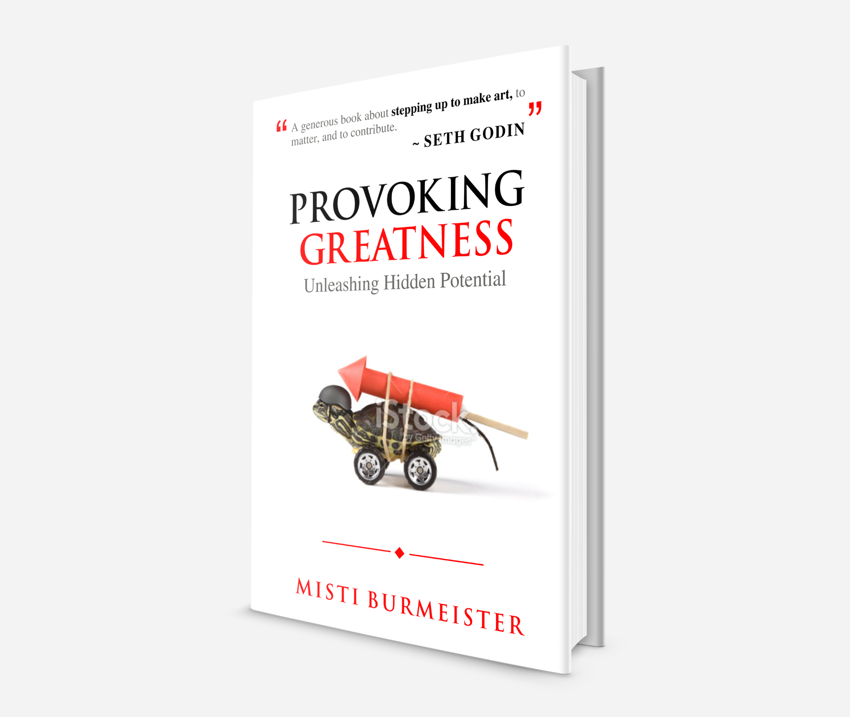 Create a Provoking Cover for a book that challenges conventional wisdom