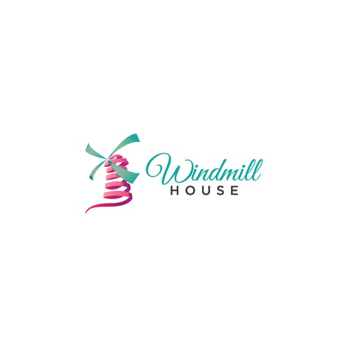 Create a fun and exciting event facility logo for Windmill House