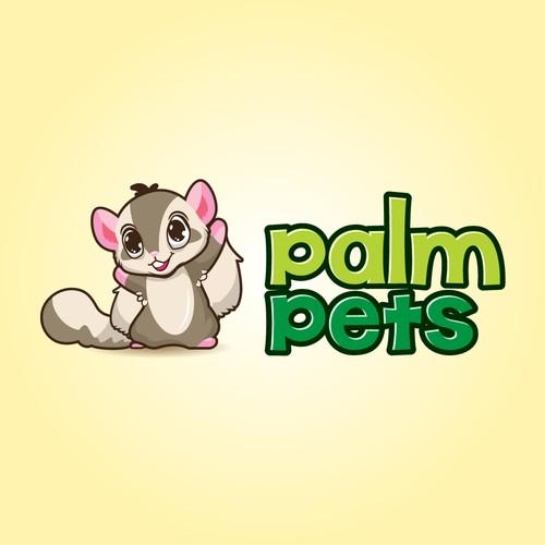 Palm Pets Character Logo