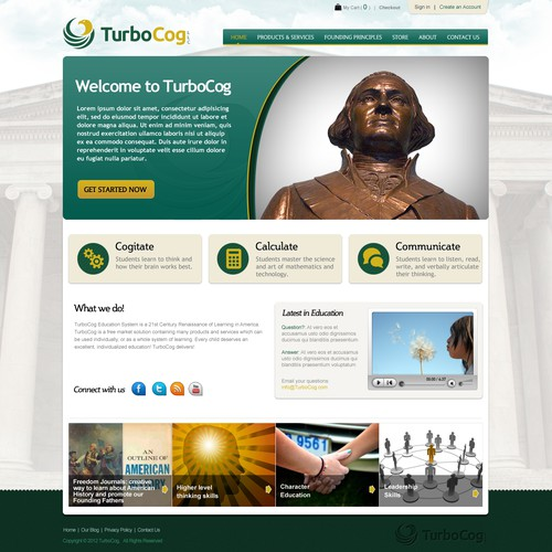New website design wanted for TurboCog LLC