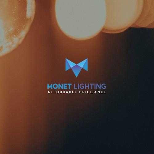 Clean logo for monet lighting