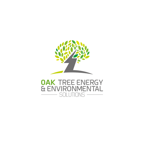 Zenzla logo concept for OAK TREE ENERGY & ENVIRONMENTAL SOLUTIONS logo.