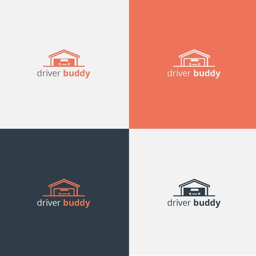 flat design garage logo