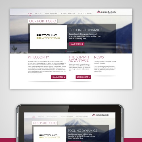 Create the next website design for Summit Equity Group - summitequity.com