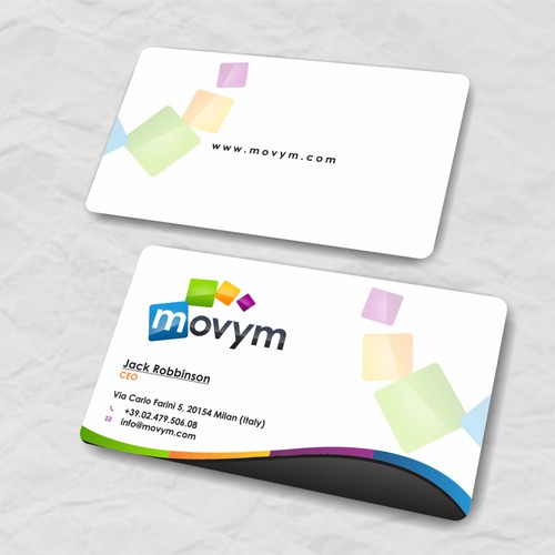business card for Movym