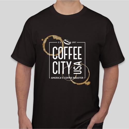 T-shirt design for coffee shop