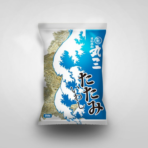 Japanese Dry seafood package design