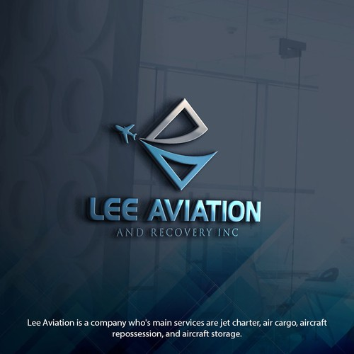 Design a modern luxury logo for Lee Aviation