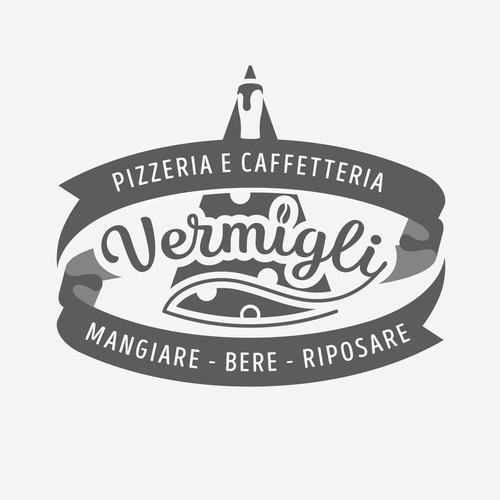 Pizza, Beer, Coffee Vintage Logo