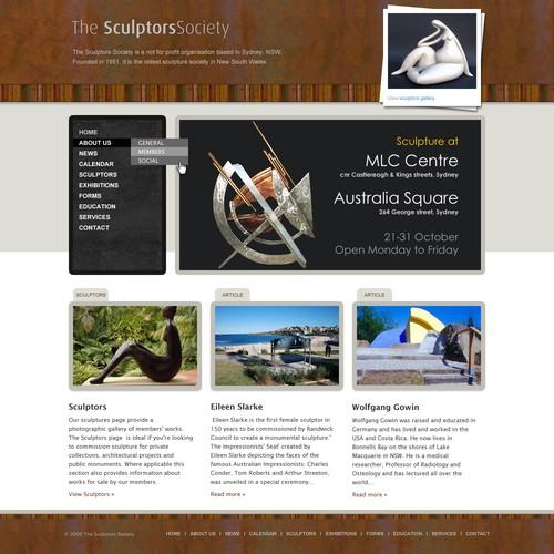 Sculptors Society website