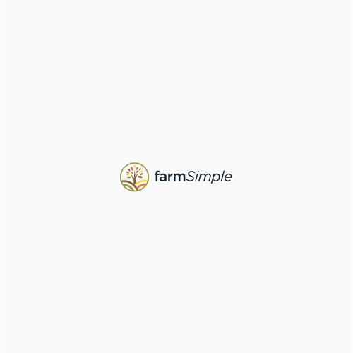 simple logo for a farm management app