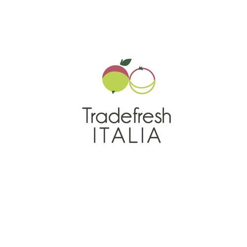 bold logo concept for transportation of fresh fruits and vegetables