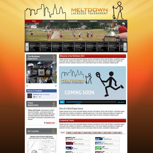 New website background for Meltdown Lacrosse Tournament