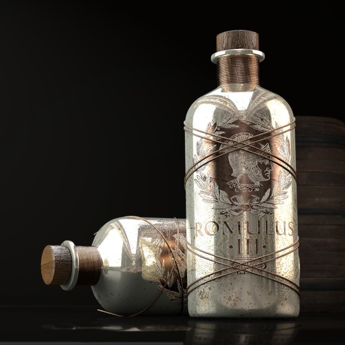 Design the bottle package for the next dark spirit brand