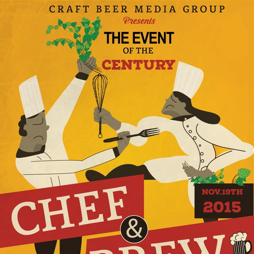 Chef and brew poster design