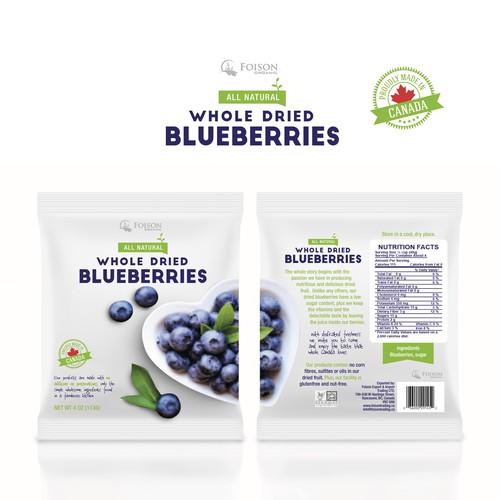 Blueberries packaging
