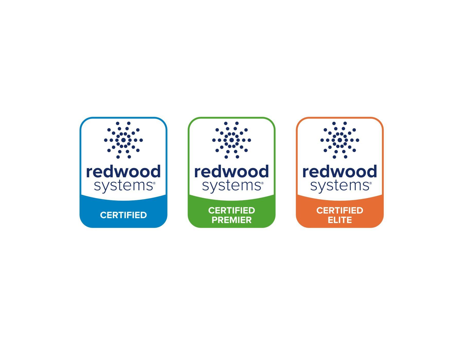 New logo for Redwood Systems Certified Partner Program