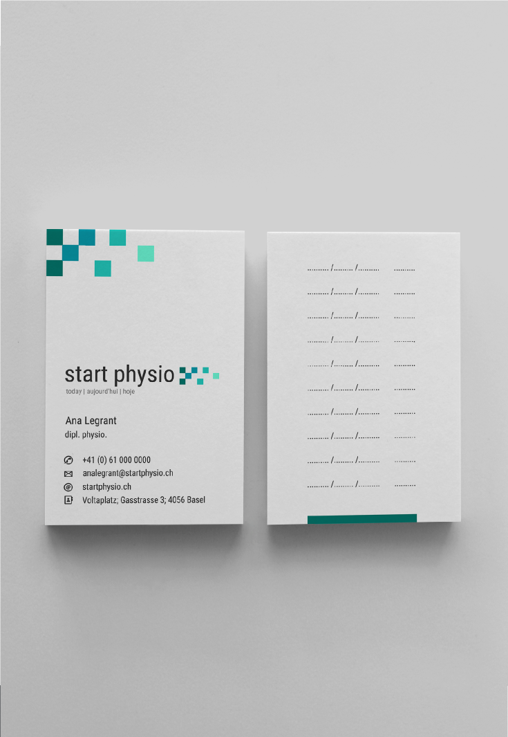 """""""Less but better"""" logo for multi-language physiotherapy practice"""