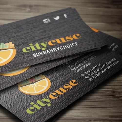 """Design a creative urban hipster logo for """"citycuse"""""""