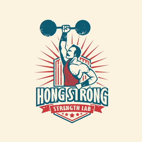 Vintage logo for HONG STRONG