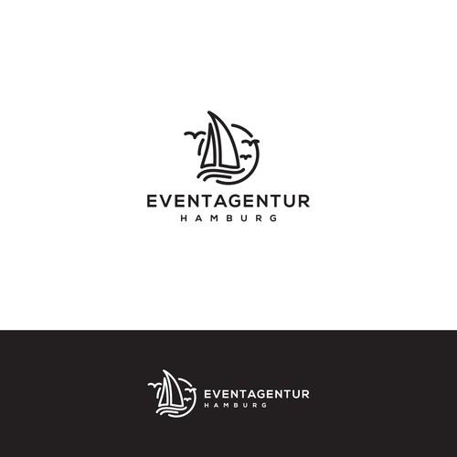 line art logo style for EVENTAGENTUR HAMBURG