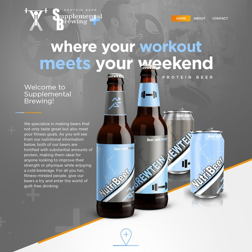 Protein Beer - web concept