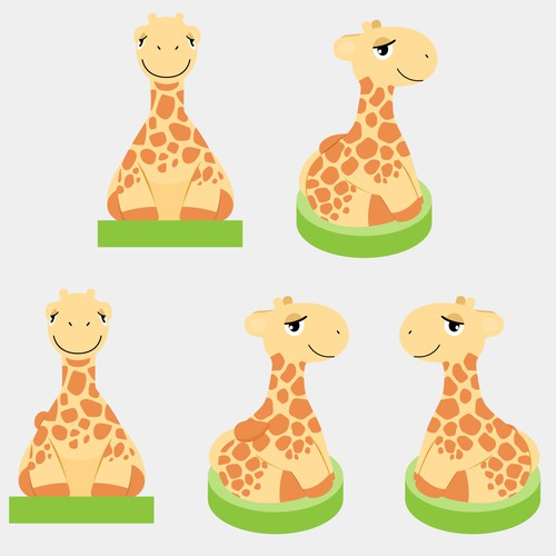 Vibrant Giraffe seeking whimsical child friendly design