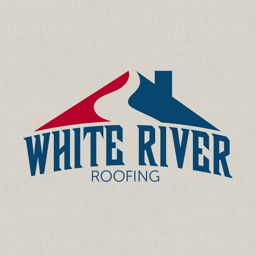 Create a simple modern logo for a roofing company.