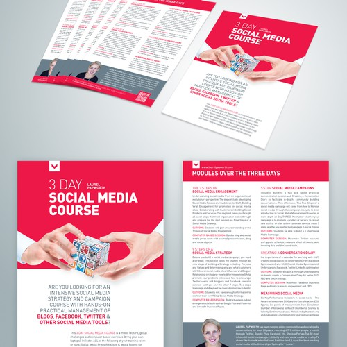 One Page Course Leaflet with course outline