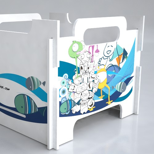 Beat Box Melamine contest#2: design applied to furniture